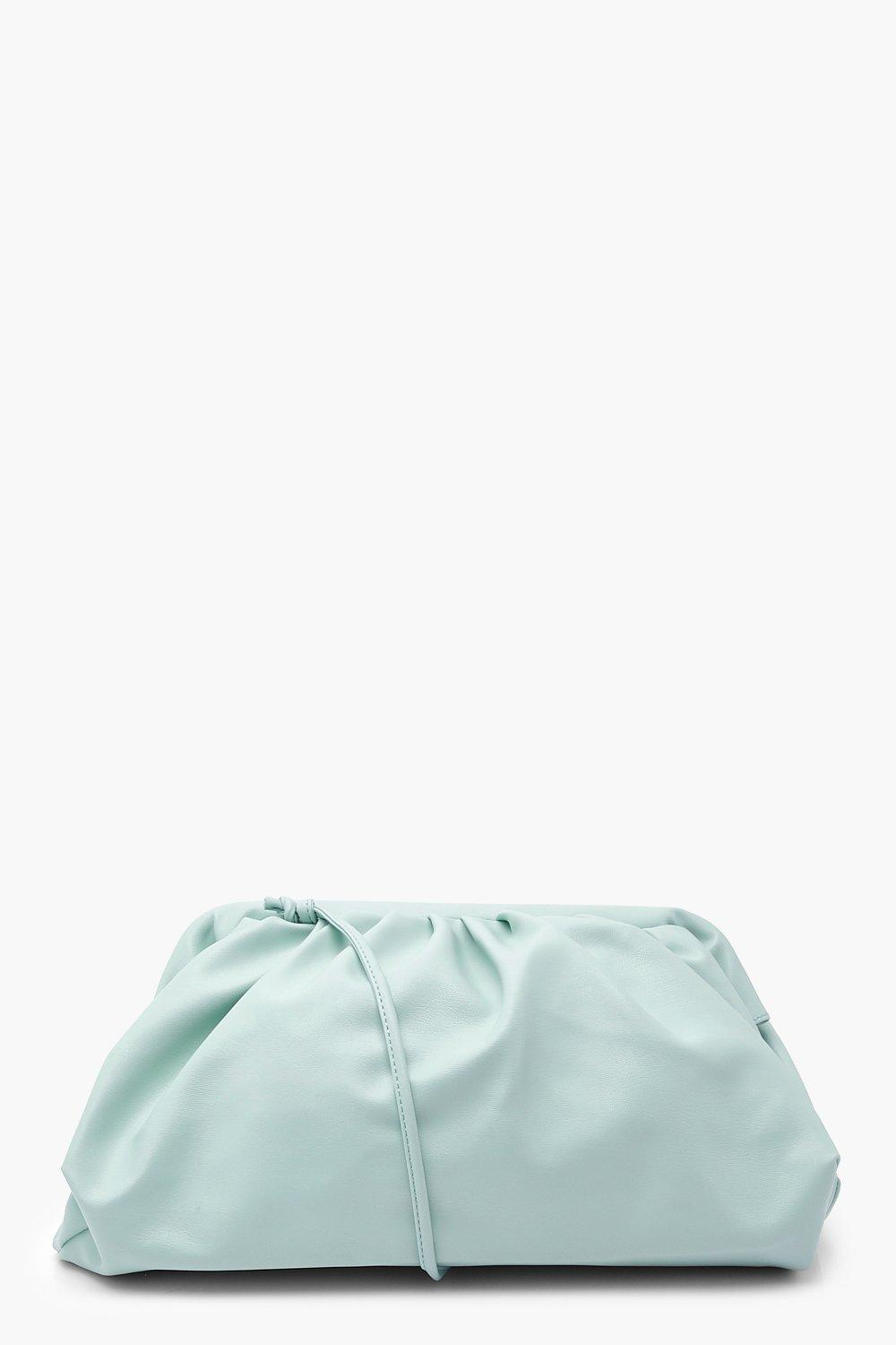Bags Slouchy Oversized PU Clutch & Strap Bag
