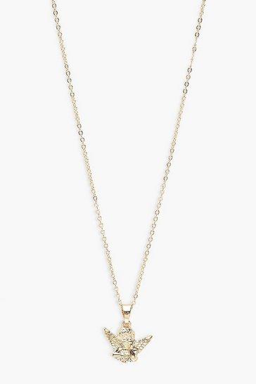 Gold metallic Cherub Necklace