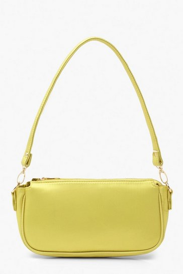 Lime Satin Under Arm Bag