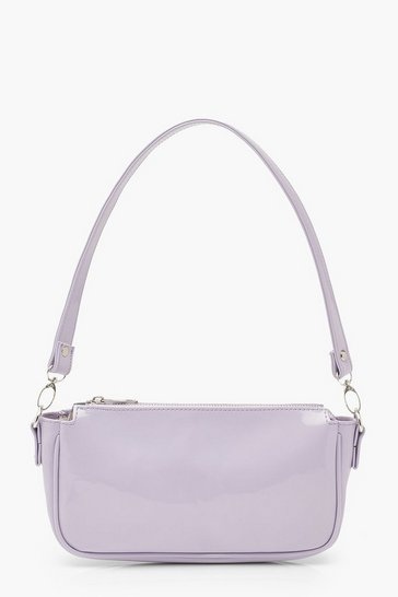 Lilac purple Patent Shoulder Bag
