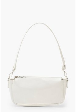 White Patent Shoulder Bag