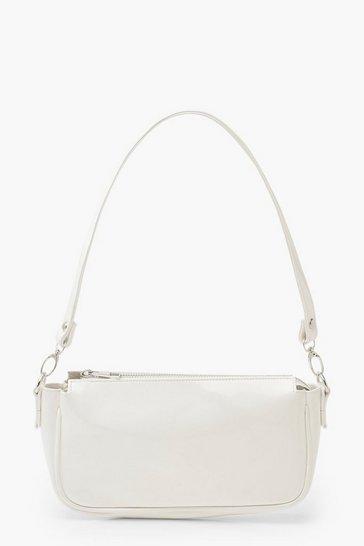 White Patent Shoulder Bag