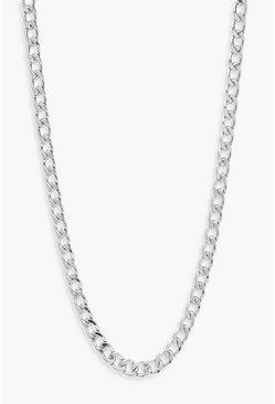 Silver Simple Curb Chain Necklace