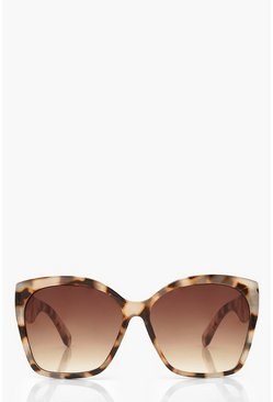 Cream white Oversized Tortoise Shell Sunglasses