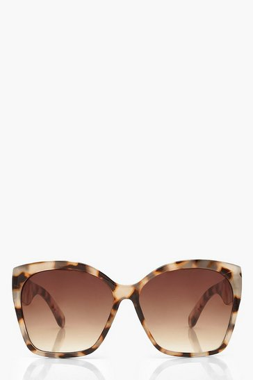 Cream white Oversized Tortoise Shell Sunglasses
