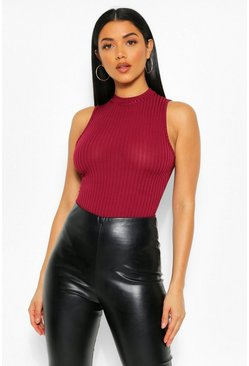 Berry High Neck Bodysuit