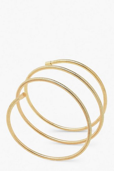 Gold Wrap Round Roll Bracelet