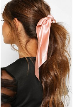 Blush pink Satin & Scarf Hair Tie