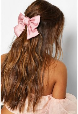Blush pink Large Satin Bow