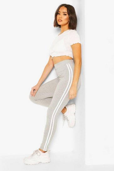 Grey marl grey Side Stripe Basic Jersey Legging