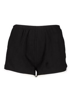 Charcoal Basic Jersey Contrast Runner Short
