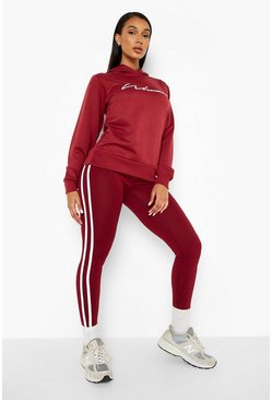 Berry Woman Hoodie And Legging Tracksuit