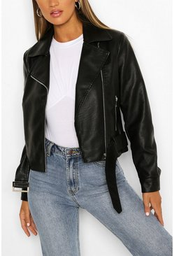 Black Belted Biker Jacket