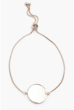Gold metallic Sliding Clasp Coin Bracelet