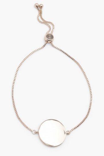 Gold metallic Sliding Clasp Coin Bracelet