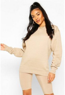 Stone beige Basic Oversized Sweatshirt