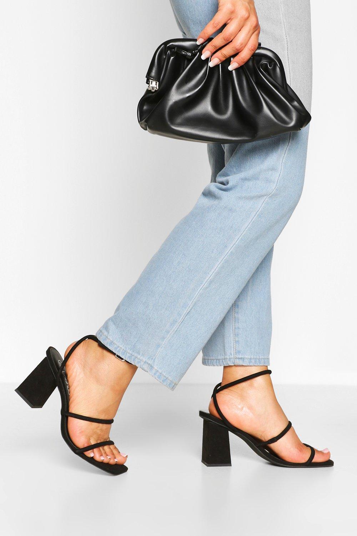 SHOES Triple Strap Block Heels