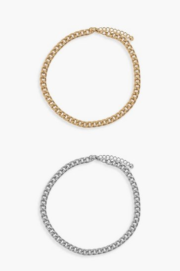 Multi Chain Anklet 2 Pack