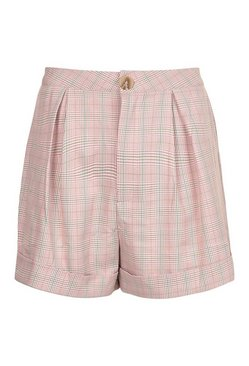 Pink Checked Tailored Short