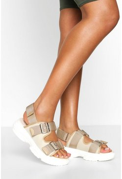 Beige Foot Bed Sports Sandals