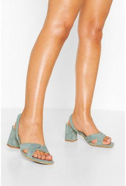 Sage Sling Back Block Heel Sandals