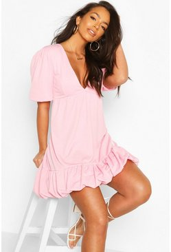 Soft pink Puff Ball Smock Dress