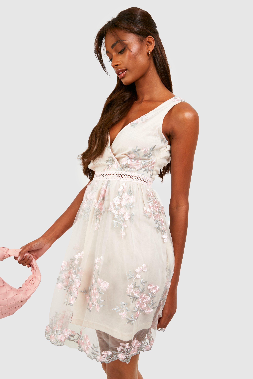 boohoo embroidered dress