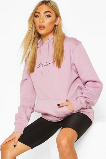 Lilac purple Purple Woman Signature Oversized Hoodie