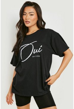 Black Ma Cherie Slogan T-Shirt