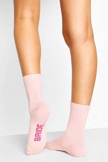 Pink Bride To Be Ribbed Socks