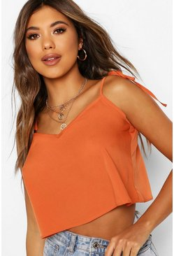Spice orange Cropped Swing Cami