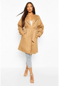 Camel beige Extreme Sleeve Trench Coat