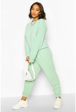 Mint green Basic Regular Fit Joggers