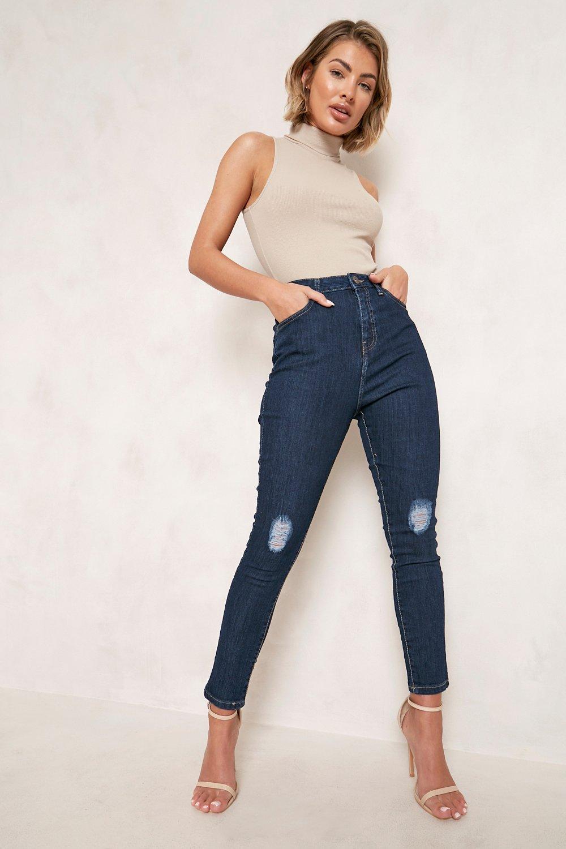 High Waisted Jeans High Waisted Distressed Skinny Jean