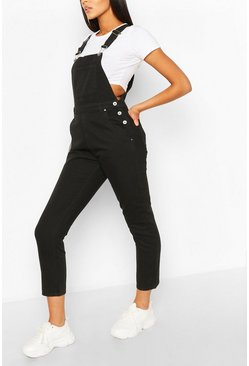 Black Denim Boyfriend Dungaree