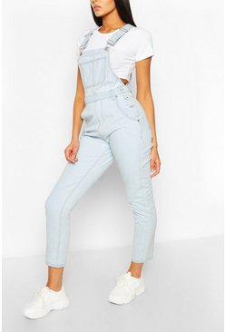 Light blue blue Denim Boyfriend Dungaree