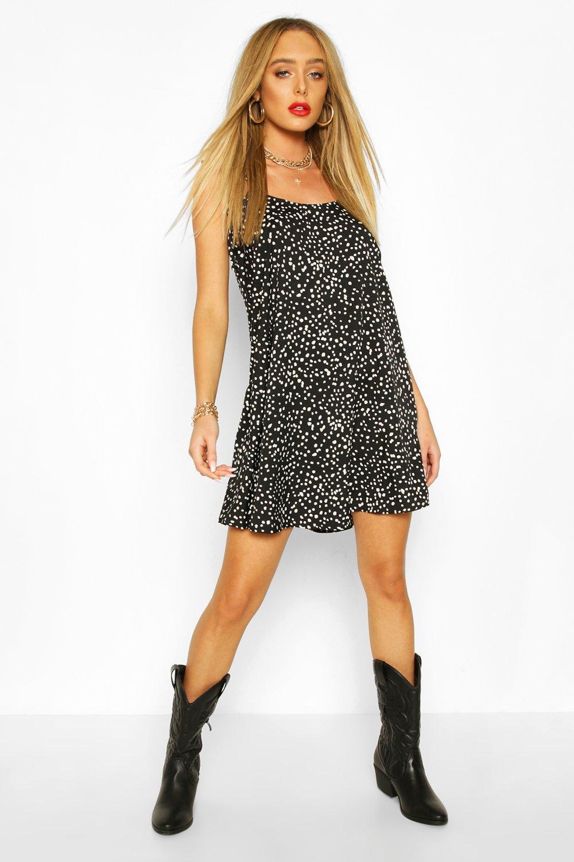 SALE Polka Dot Cami Slip Swing Dress