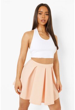 Fawn beige Pastel Jersey Pleated Tennis Skirt