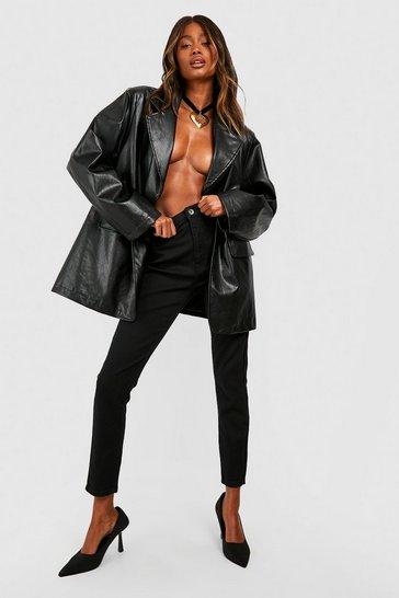 Black High Rise Disco Jeans