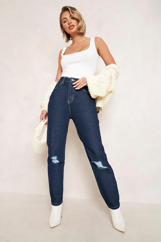Mom Jeans High Waist Distressed Mom Jean
