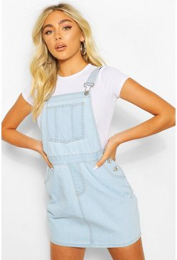 Lichtblauw blue Denim casual jurk