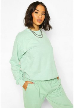 Mint green Washed Oversized Sweatshirt