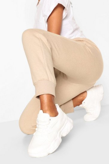White Chunky Sole Panelled Trainers