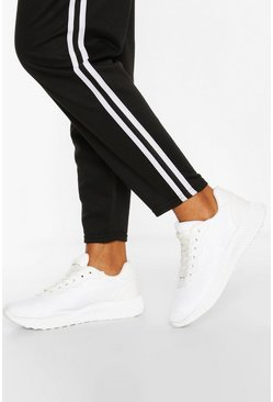 White Basic Running Sneakers