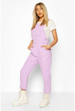Lilac purple Denim Boyfriend Dungaree