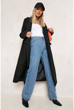 Mid blue blue High Rise Wide Leg Jean