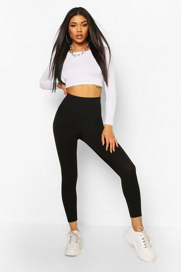 Black Waist Cinching Control Leggings