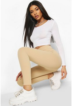 Sand beige Waist Cinching Control Leggings