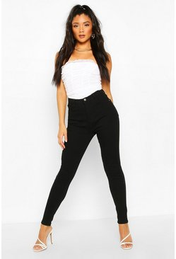 Zwart black Power Stretch High Waist Skinny Jean