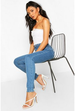 Mid blue blue Power Stretch High Waist Skinny Jean